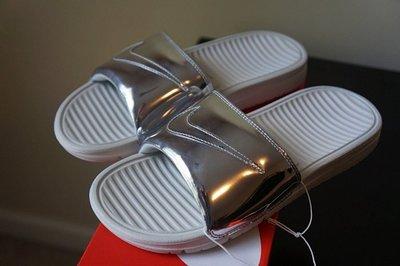 超限量NIKE BENASSI SOLARSOFT SLIDE SP QS 電鍍 拖鞋