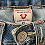 美國購回.全新真品True Religion磨破修飾身材低腰牛仔褲