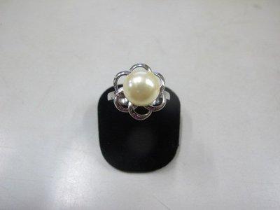 二手舖 NO.3996 珍珠 造型戒指 首飾飾品 全新