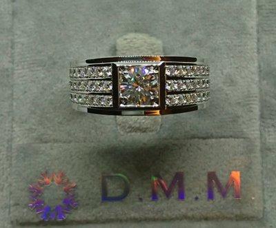 DMM 流星鑽 莫桑石/GIA 鑽石 珠寶 摩星鑽 線戒 婚戒 高碳鑽 精品名牌 Moissanite  租借(客製化 80分/18K金戒台)