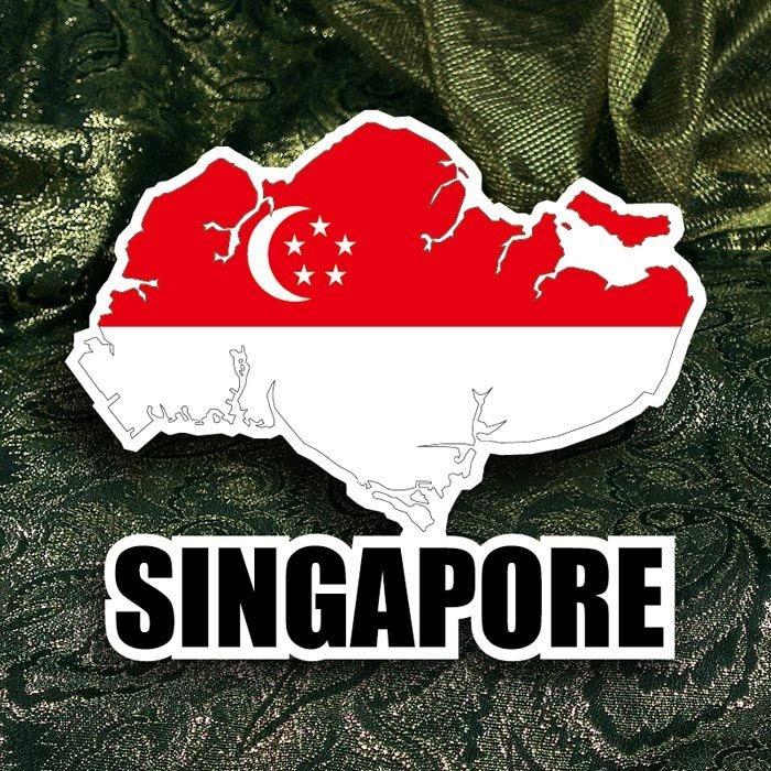 【國旗創意生活館】新加坡地圖抗UV、防水行李箱貼紙/Singapore/世界各國款可收集、訂製