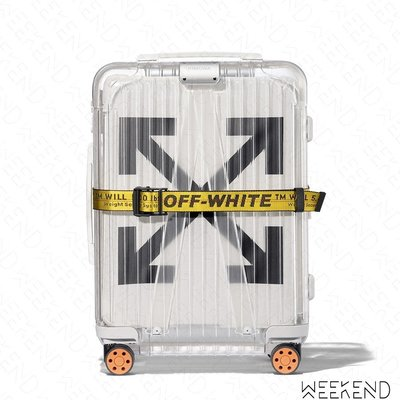 【WEEKEND】 RIMOWA X OFF WHITE 現貨 聯名 See Through 行李 登機箱 透明 白色