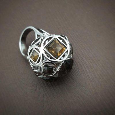 DYRBERG/KERN 茶晶 星球 戒指 打翻珠寶盒r42