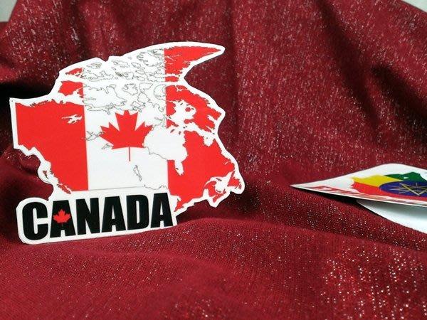 【衝浪小胖】加拿大國旗地圖抗UV、防水登機箱貼紙/Canada/世界多國款可收集和訂製