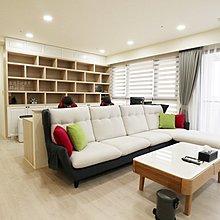 【歐雅系統家具】輕古典鄉村風 清新客廳 文化石 電視櫃 書櫃 收納櫃