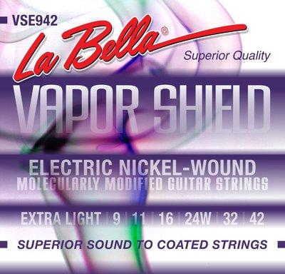 【老羊樂器店】美國製 La Bella VSE942 電吉他弦 鍍鎳電吉他弦 09-42 電吉他