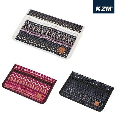 丹大戶外【KAZMI】彩繪民族風可拆式椅側置物袋 K8T3Z002 三色 椅子│折疊椅│袋子