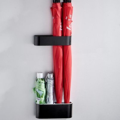 雨傘架 入戶門口雨傘架家用雨傘收納神器小號免打孔壁掛置物架鞋柜   全館免運