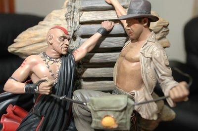 【烏龍1/2】sideshow ps3 祕境探險 法櫃奇兵 印地安那瓊斯 Indiana Jones 魔宮傳奇 polystone  雕像