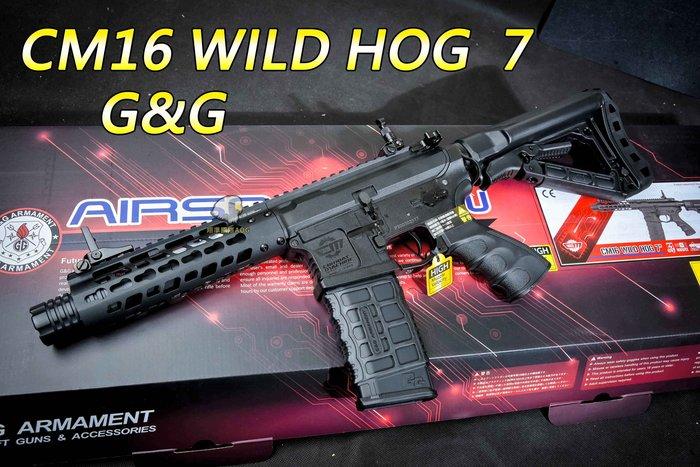 【翔準軍品AOG】G&G CM16 WILD HOG  7 半金屬 電動步槍 M16 步槍 卡賓槍CM16W7