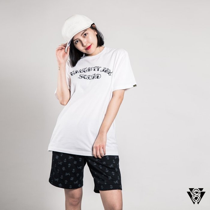 SQUAD X 淘野頑 刺青聯名系列 剃刀皮革刺繡帽 皮帽 白色