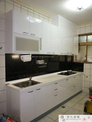 【雅格廚櫃】工廠直營~一字型廚櫃、流理台、廚具、結晶鋼烤、櫻花時尚三機