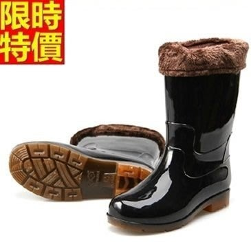 中筒雨靴 雨具-防滑耐磨時尚迷彩保暖男雨鞋2色67a20[獨家進口][米蘭精品]