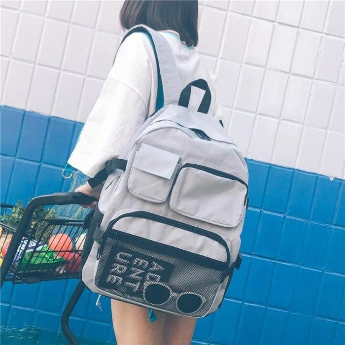 現貨/書包女正韓ulzzang雙肩包ins超火高中初中生容量學生男大背包50SP5RL/ 最低促銷價
