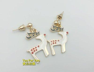 出清特賣- 現貨TP - 超級可愛聖誕氣氛-麋鹿耳環