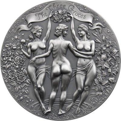 THREE GRACES Celestial Beauty 希臘神話三惠美女神 2盎司純銀喀麥隆銀幣