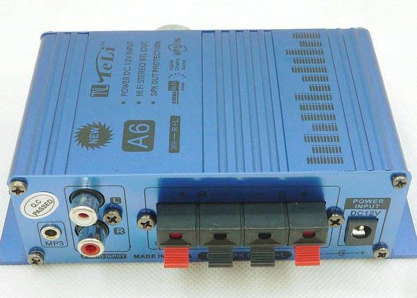 全新低價標 TL-A6 12V 迷你擴大機 機車音響 電腦 MP3 擺攤 夜市