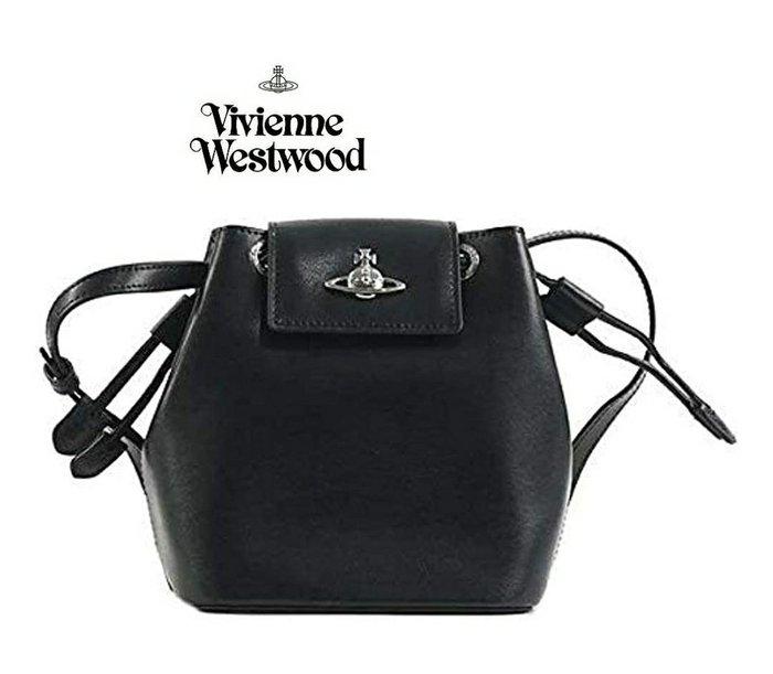 Vivienne Westwood ► ( 黑色 ) 真皮 肩背包 斜背包 側背包|100%全新正品|特價