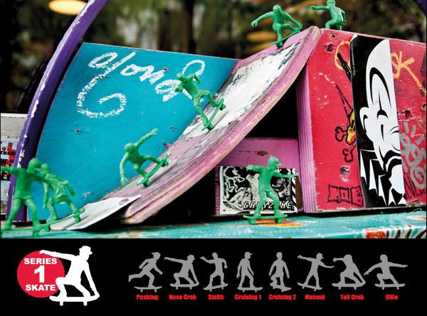 { POISON } ORIGINAL AJ'S TOY BOARDERS SKATE1 滑板玩具小兵 美國進口懷舊玩具