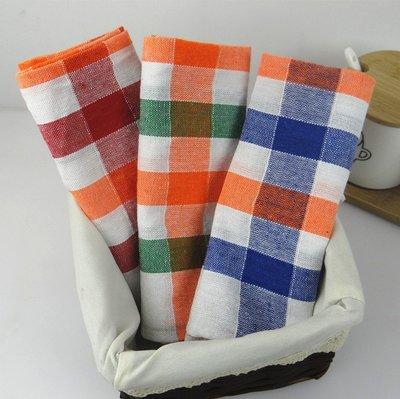 青田家居☀純棉☀tea towel 茶巾☀擦布☀棉布☀餐巾☀格子布【40*60cm】