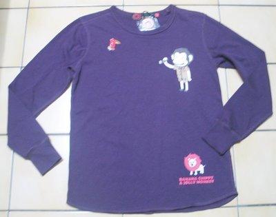 BANANA CHIPPY JOLLY MONKEY馬桶洋行全新S號有吊牌,深紫紅色長袖上衣