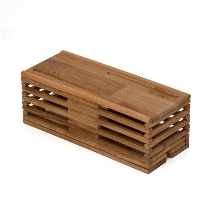 電線收納盒整理線盒插線板電腦集線盒實木插座插頭防護收線理線盒 卡布奇诺