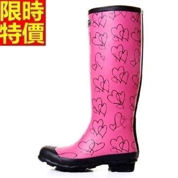 長筒雨靴子 雨具-手繪愛心時尚潮流女雨鞋子66ak36[獨家進口][米蘭精品]