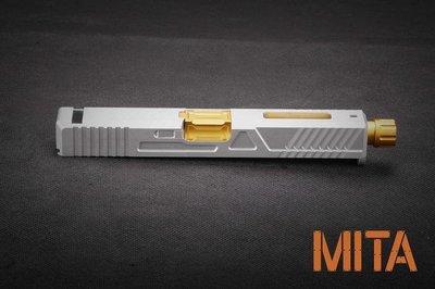 【BCS武器空間】MITA 鋁合金加工滑套組 for MARUI G17 GLOSSY 銀色-MITA-P030-SV2