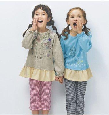 Co媽日本精品代購 預購 日本迪士尼 小朋友 下擺波浪設計 純綿 T恤 圓領T恤 90~140