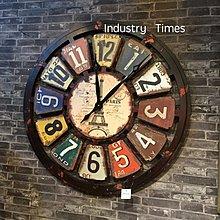 複古做舊工業風創意鐘壁飾咖啡廳酒吧網咖家居創意牆面裝飾掛鐘