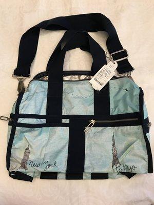 Lesportsac Weekender 絕版輕量旅行袋,台灣藍鐘公司貨保證真品,原價$8400,限時優惠價$3000含運
