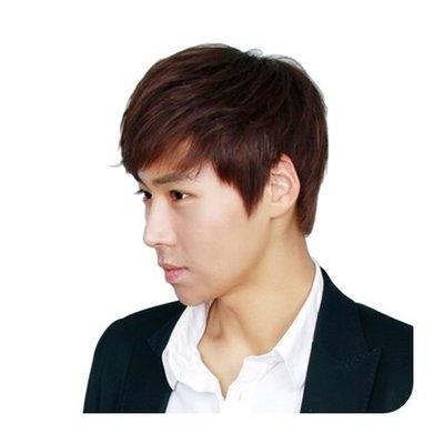 整頂 假髮 真髮絲-手織頂心短直髮自然男假髮2色73vb20[獨家進口][米蘭精品]