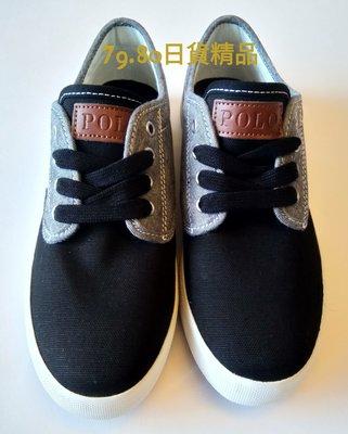 【 柒玖捌零日貨精品 】日本全新帶回 全新正品 Polo Ralph Lauren 黑色 休閒鞋 帆布鞋