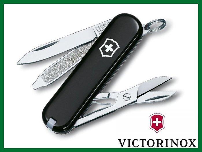 ╭OUTDOOR NICE╮瑞士維氏VICTORINOX 0.6223.3CLASSIC SD 經典款 瑞士刀 黑色