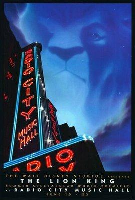 獅子王-The Lion King (1994)原版電影海報