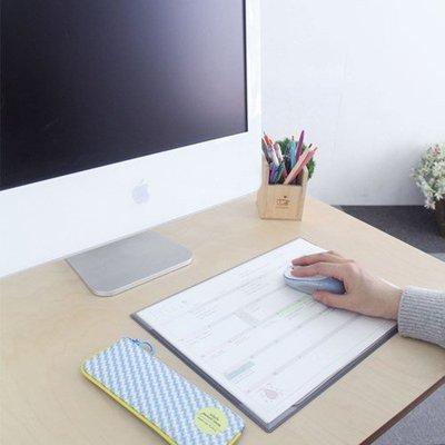 Ξ ATTIC Ξ 韓國pleple~ Monthly Mat 早安陽光 月計畫行事曆+收納桌墊滑鼠墊