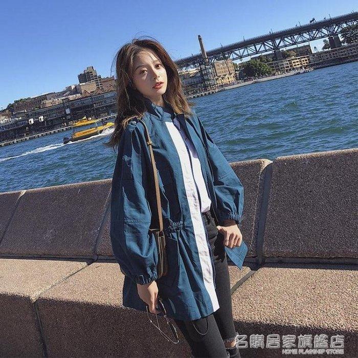 小個子風衣女中長款正韓學生休閒寬鬆工裝外套