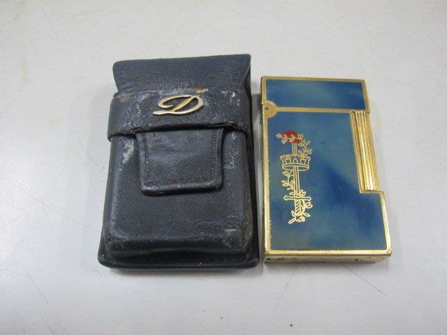 二手舖 NO.1458 原廠都彭S.T. Dupont 打火機 附皮套 真品收藏