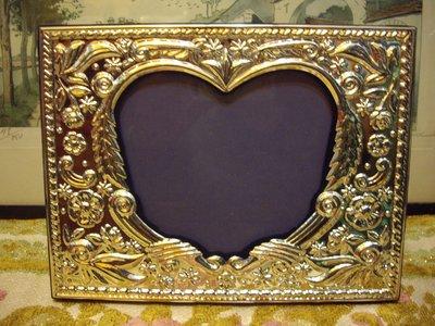歐洲古物時尚雜貨 藝術擺飾 鍍銀 玫瑰雕花相框  銀光閃閃 收藏