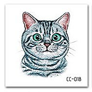 【萌古屋】虎斑貓單圖CC-018 - 防水紋身貼紙刺青貼紙K37