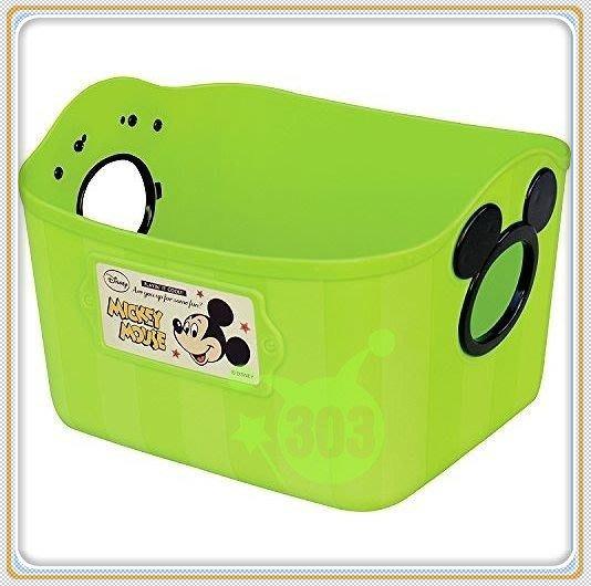 303生活雜貨館 日本製 SQ5  Mickey  米奇 / 日本製 Minnie  米妮收納置物籃 2.5 L
