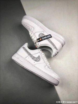 "Nike Air Force 1 Low ""Just do it""全白 百搭 休閒運動滑板鞋 BQ5361 男女鞋"
