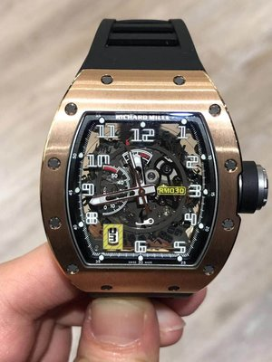 Richard Mille [NEW] RM 030 Rose Gold Skeleton Dial Watch