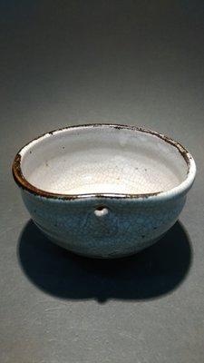 ☆清沁苑☆日本茶道具~窯燒 手作 冰裂紋茶碗~d428