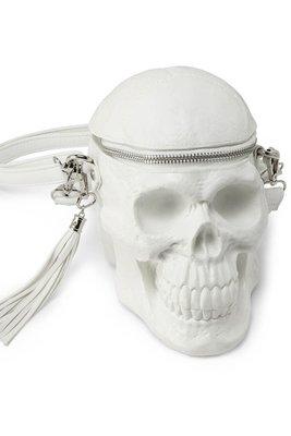 【丹】KS_Grave Digger Skull Handbag 白色 骷顱頭 造型 骨頭 肩背包 側背包