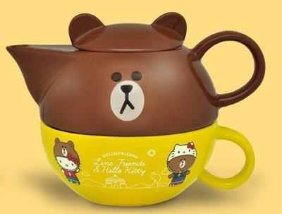 7-11 Hello Kitty X LINE 限量午茶組【下午茶杯壺組單賣 熊大款 】另有玻璃瓶/ 絨毛玩偶/ 烤皿 高雄市