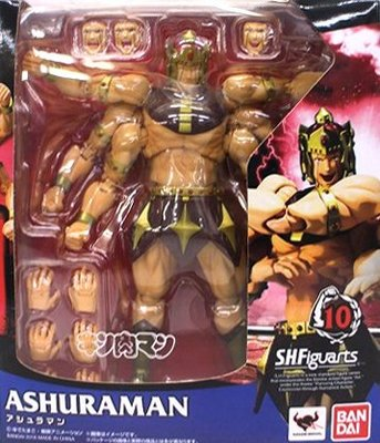 日本正版 萬代 S.H.Figuarts SHF 金肉人 筋肉人 阿修羅人 可動 模型 公仔 日本代購