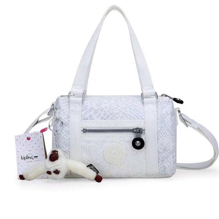 Kipling 猴子包 HB6470 白色動物紋 休閒 迷你拉鍊輕量手提斜背肩背包斜背包 防水 限時優惠