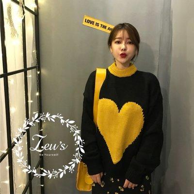 【ZEU'S】秋冬慵懶風大愛心寬鬆針織衫『 11218329 』【現+預】KA