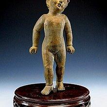 【 金王記拍寶網 】021 早期歐洲老建築拆下藝術品 老銅雕 小男孩銅雕 一尊 罕見稀少 ~
